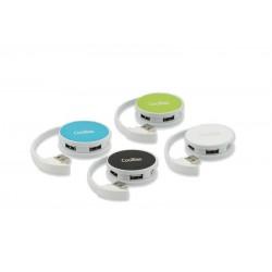 Coolbox Round Hub 4 Puertos USB Azul