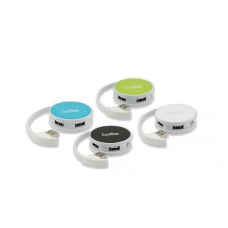 Coolbox Round Hub 4 Puertos USB Blanco