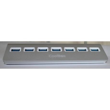 Coolbox Hub ALU3 7 Puertos USB 3.0